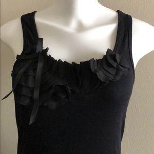 Tops - Black decorative tank top